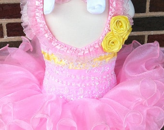 Pageant Dress Natural Custom Made