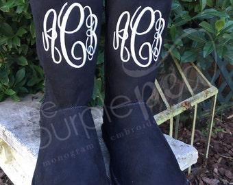 Monogrammed Boots, Ladies