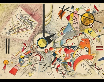 Fridge Magnet, Wassily Kandinsky Untitled Ohne Titel, watercolor, pen and ink art image, 1923