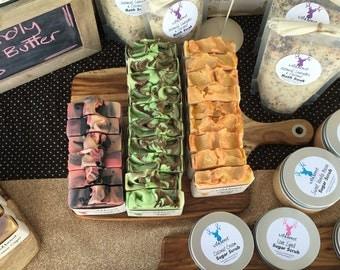 Any 5 Soap Bars - Buy Bulk & Save - You Choose - Cold Process Soap - Shea Butter - Natural - Handmade - Vegan