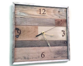 Pallet Clock Pallet Wall Art Reclaimed Wood Reclaimed Wood Wall Art Pallet