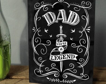 Father's Day Card - Birthday Card For Dad - Card For Dad - Birthday Card - Greetings Card- Card For Father's Day - Dad Birthday Card
