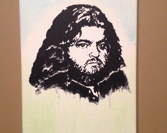 LOST inspired portrait of Hurley