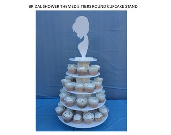 Bride themed cupcake stand
