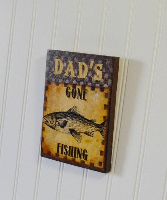 Gone Fishing Decor Rustic Fishing Sign Fishing Decor