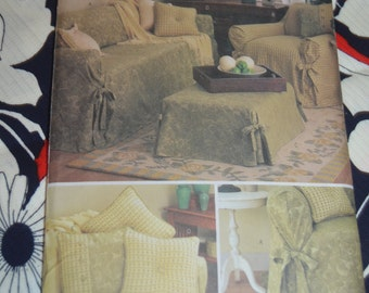 Butterick 3229 Easy Slip Covers Sewing Pattern - UNCUT -  Slip covers for Sofa, Ottoman, and Loveseat