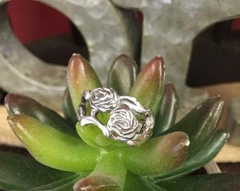 Rose Design Spoon Ring