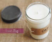 Fresh Fig, 8oz Soy Candle in a Reusable Glass Jar