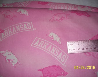 Pink razorback fabric