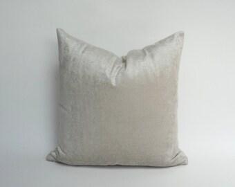 silver velvet pillow case // crushed velvet cushion case // silver velvet pillow // crushed velvet