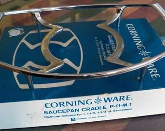 Vintage in Box CORNING WARE Saucepan Cradle P-11-M-1 Platinum for 1/1.5/1.75 qt