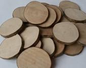 Custom listing for Sharlene - Wooden blanks, 6-7cm, Tree slices, wood slices, branch slices, wooden slices, wedding, UK, name tags