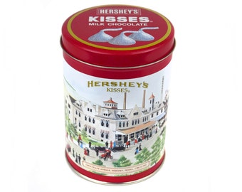 Vintage 1990 Hershey's Kisses Hometown Series Canister #4 Tin