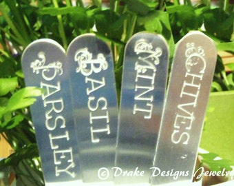 Custom Garden Markers personalized herb markers plant stakes