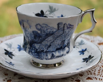 Royal Windsor Fine Bone China Teacup and Saucer Set