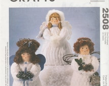 "McCall's Crafts 2508 Michelle Hains 14"" Chenille Angels Sewing Pattern 1999 Uncut"