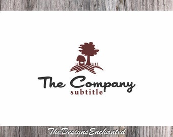 OOAK Logo Premade Logo and Watermark House Logo Tree Logo Farm Logo Landscaping Logo Real Estate Logo Custom Logo Business Logo Design