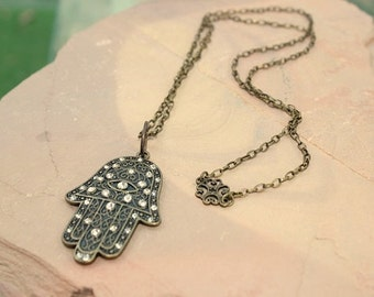 Hamsa Necklace-Protection Zen jewelry-