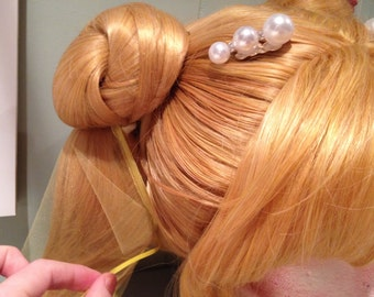 Extra long ponytail net for cosplay wigs
