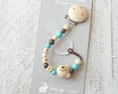 Pacifier clip, beaded pacifier clip, pacifier holder, wood pacifier clip, ready to ship, baby gift, wood toy, useful baby gift,
