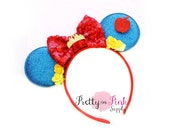 NEW Snow White Minnie Mouse Ears Headband DIY Kit #289- Minnie Ears- Minnie -Headband Kit-Baby Headband-Mickey Mouse- Disney