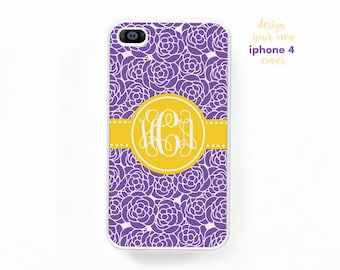 monogrammed iphone 4 4s cover • design your own