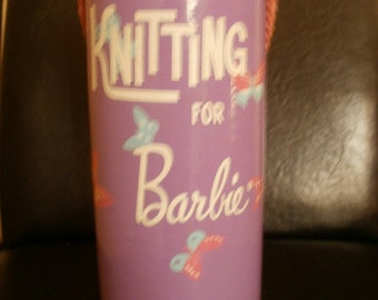 Purple Knitting for Barbie Case 1960s - Free Shipping