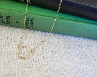 Small Circle Gold Chain Necklace