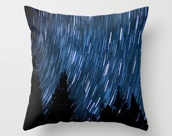 Space Pillow - Starry Night Pillow Case - Star Trails Pillow - Night Photography Throw Pillow - Dramatic Pillow - Nature Pillow - Yosemite