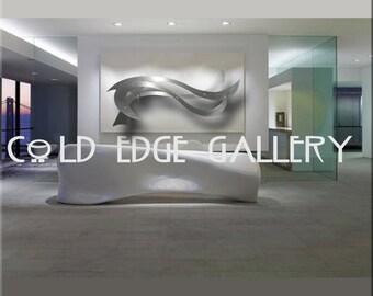 """Extra Large Metal Wall Art, Modern, Sculpture """"Ocean Breeze"""""""