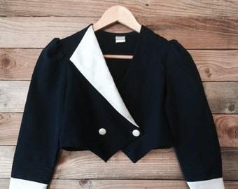 Retro Cropped Nautical Style Cropped Jacket