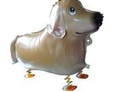 Golden or Labrador Retriever Walking Dog Balloon, Dog Party Supplies, Dog Birthday Party, Dog Themed Party Supplies, Funny Balloon