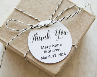 Thank You Tag - Thank You Label - Wedding Favor Tag - Shower - Wedding Favors - Christening - Custom Tag - Bridal Shower Tags - Party Favor