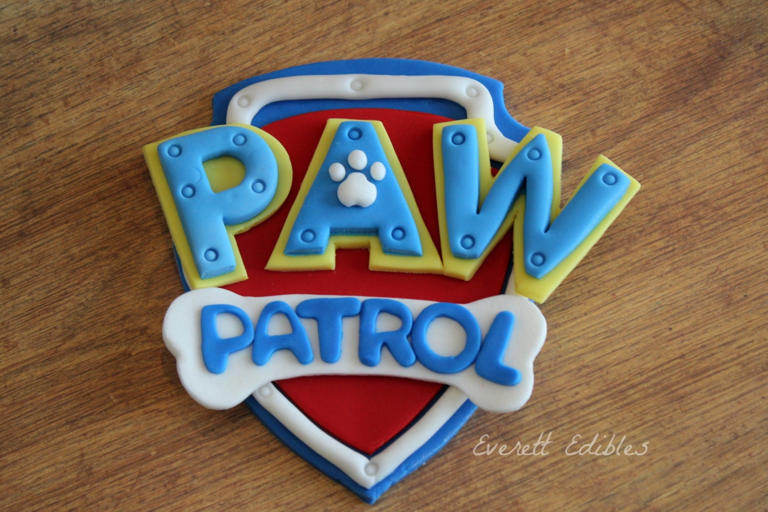 Paw Patrol Fondant Cake Topper 4 Decoration | Etsy