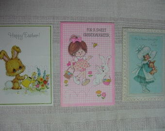 Trio of Vintage Easter Cards