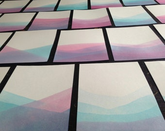 Hand Dyed Stationery Pack- 5x7 Notecards- Watercolor- Ink- Dip-Dye