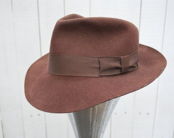 """Classic """"Indy"""" Style Brown Fedora"""