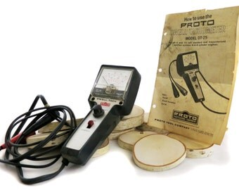 Cool Handheld Retro Mod 1960's Automotive Tachometer Testing Tool By Proto Professional Equipment Perfect for a Vintage Tool Collection