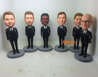 Groomsmen bobble heads Best man bobblehead Best men bobble heads Groom bobblehead groomsmen bobbleheads groomsman bobble head - BH G0107