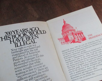 1970s Vintage Presidential Elections information educational booklet US presidents