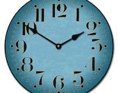Houston Blue Wall Clock