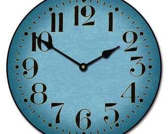 Houston Blue Wall Clock
