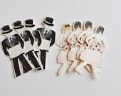 Mini Wedding Place Card paper dolls