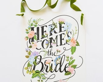 Secret Garden | Here Comes the Bride Sign by The First Snow