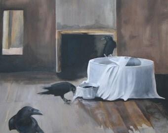 Three Ravens - paintings - unique