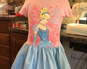 Cinderella/t-shirt dress size 6/6x ready to ship