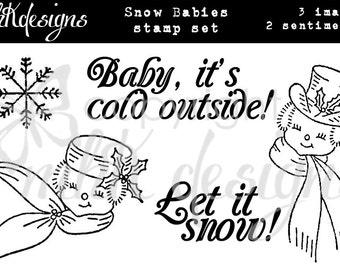 Snow Babies Digital Stamp Set