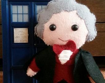 3rd Doctor inspired  felt plushie plush Jon Pertwee
