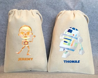 "24 Star Wars Party, Star Wars party Favor Bags,Star Wars favors, 4""x6"""