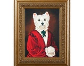 Dog Magnet, Molly McGee, Westie Refrigerator Magnet